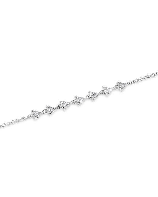 Anne Sisteron - Metallic 14kt White Gold Diamond Triangle Totem Bracelet - Lyst