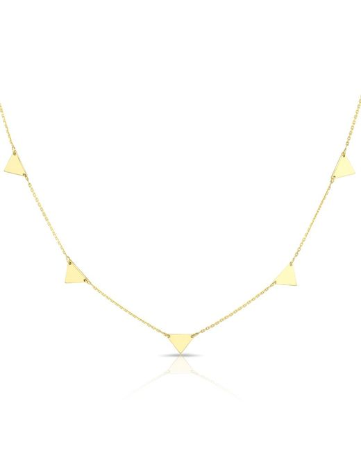 Anne Sisteron | Metallic 14kt Solid Yellow Gold Triangles Necklace | Lyst