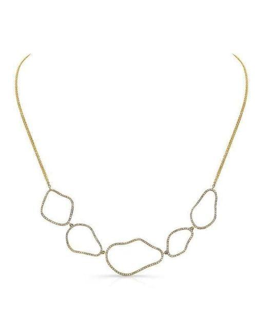 Anne Sisteron - Metallic 14kt Yellow Gold Diamond Organic Shape Necklace - Lyst