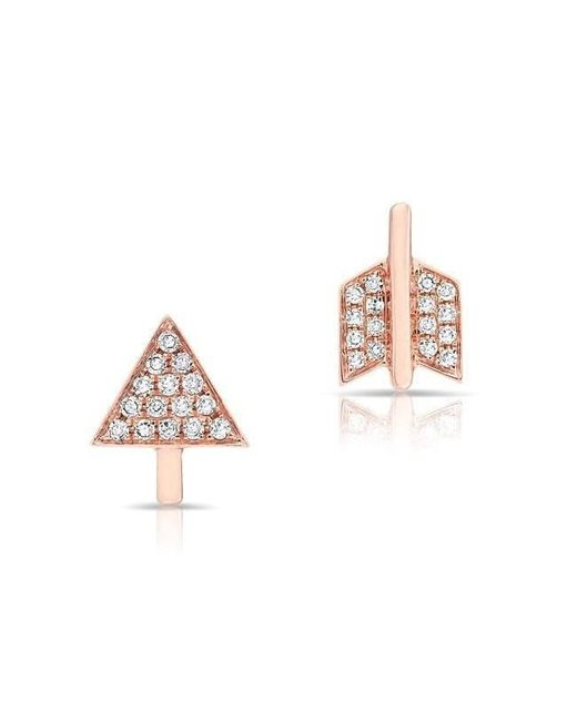Anne Sisteron | Multicolor 14kt Rose Gold Diamond Split Arrow Stud Earrings | Lyst