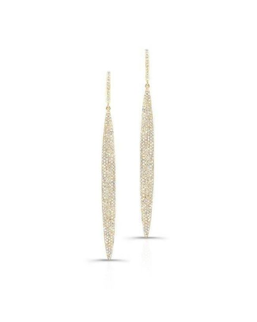 Anne Sisteron - Multicolor 14kt Yellow Gold Diamond Long Stiletto Earrings - Lyst