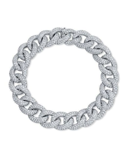 Anne Sisteron - 14kt White Gold Diamond Luxe Chain Link Bracelet - Lyst