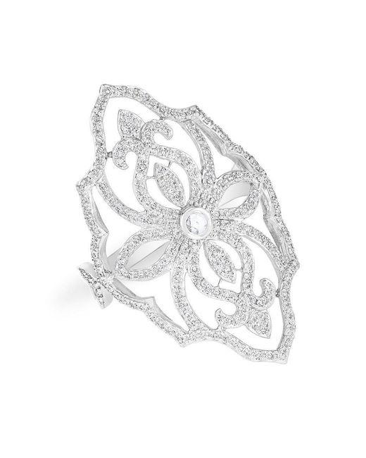 Anne Sisteron - Multicolor 14kt White Gold Diamond Aegis Ring - Lyst