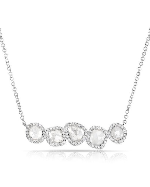 Anne Sisteron - Multicolor 14kt White Gold Diamond Slice Row Necklace - Lyst