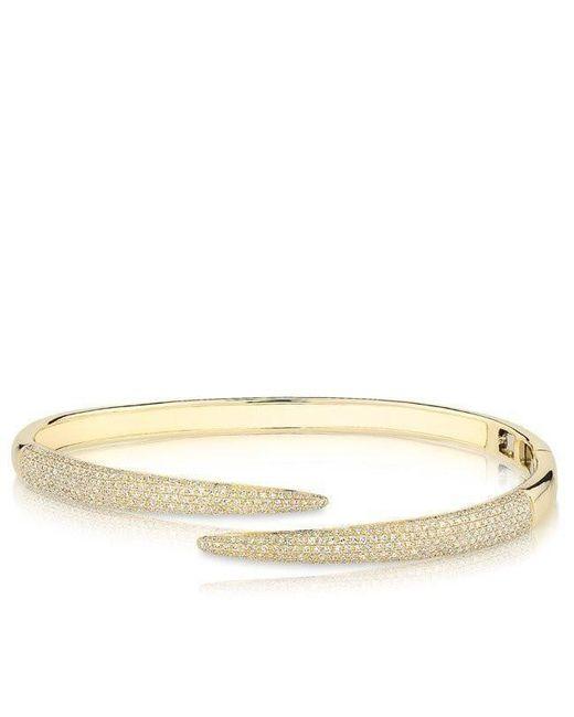 Anne Sisteron | Metallic 14kt Yellow Gold Diamond Horn Wrap Bangle | Lyst