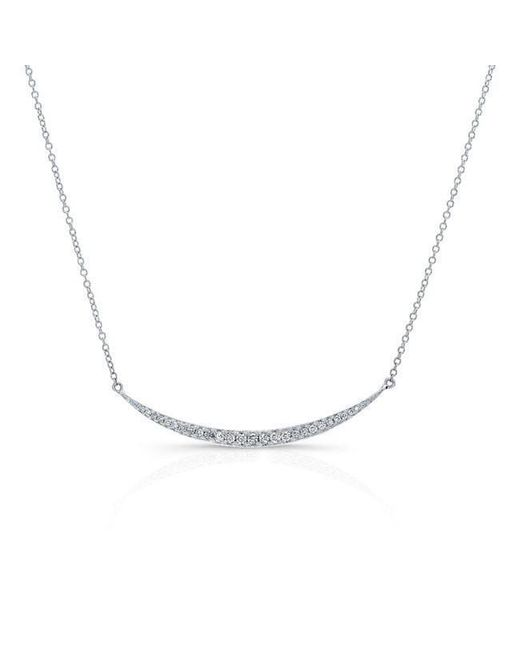 Anne Sisteron - 14kt White Gold Diamond Mini Lunette Necklace - Lyst