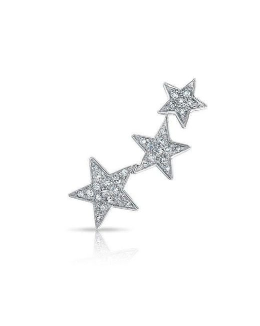 Anne Sisteron - Metallic 14kt White Gold Diamond Etoile Ear Climber - Lyst
