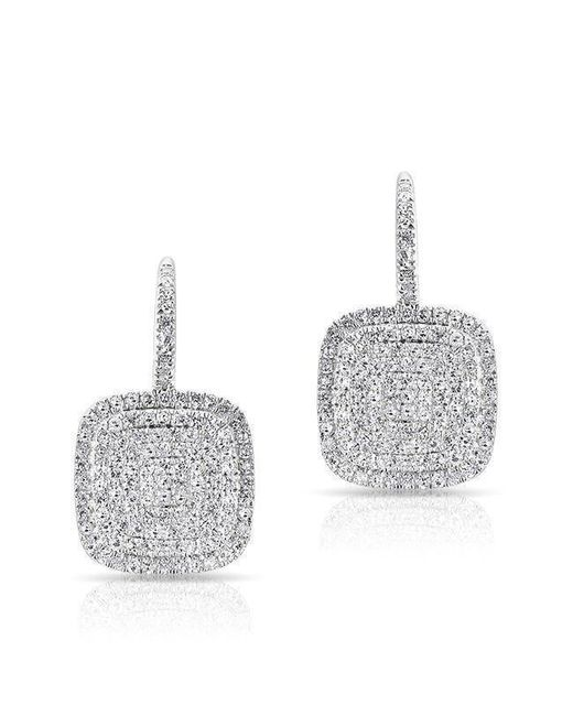 Anne Sisteron | Multicolor 14kt White Gold Diamond Cushion Earrings | Lyst