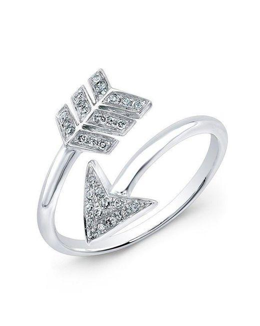 Anne Sisteron - 14kt White Gold Diamond Wrap Around Arrow Ring - Lyst