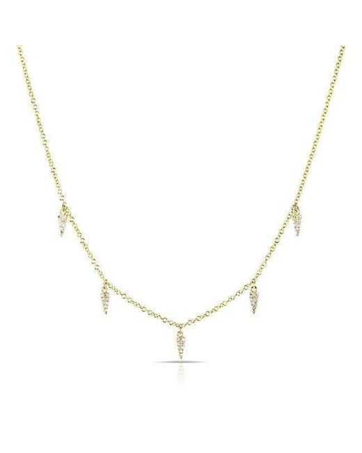 Anne Sisteron - Metallic 14kt Yellow Gold Diamond Sistine Spike Necklace - Lyst