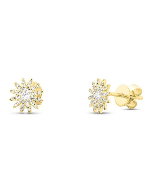 Anne Sisteron - Metallic 14kt Yellow Gold Diamond Starburst Stud Earrings - Lyst