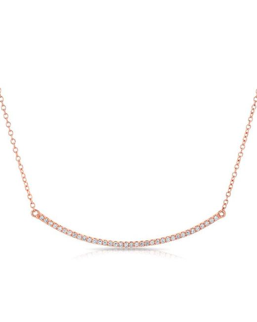 Anne Sisteron - Metallic 14kt Rose Gold Diamond Lash Crescent Necklace - Lyst