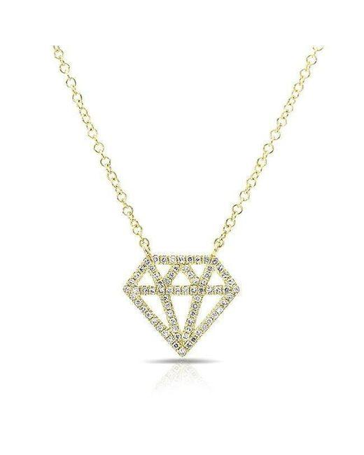 Anne Sisteron - Metallic 14kt Yellow Gold Diamond Bling Necklace - Lyst