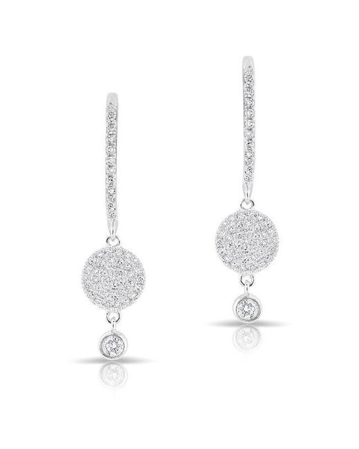 Anne Sisteron | Multicolor 14kt White Gold Diamond Disc Solitaire Drop Wireback Earrings | Lyst