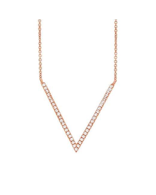 Anne Sisteron - Metallic 14kt Rose Gold Diamond V Necklace - Lyst