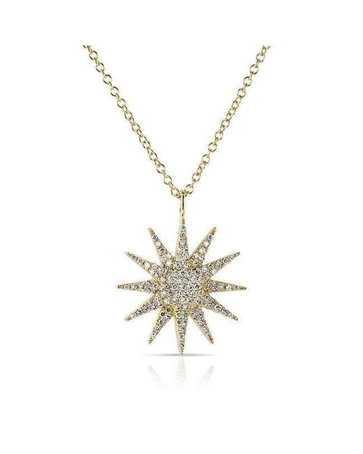 Anne Sisteron - Metallic 14kt Yellow Gold Diamond Glimmer Necklace - Lyst