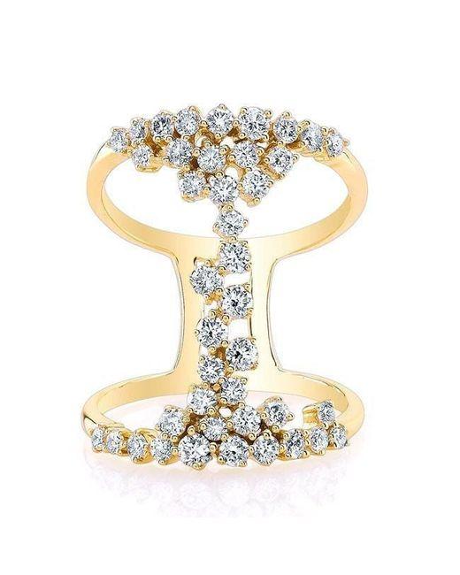 Anne Sisteron - Metallic 14kt Yellow Gold Diamond Lace Ring - Lyst