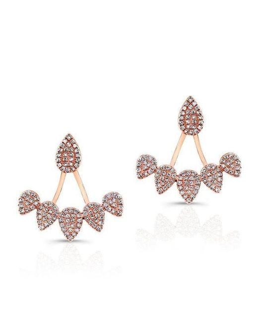 Anne Sisteron - Multicolor 14kt Rose Gold Diamond Tiara Floating Earrings - Lyst