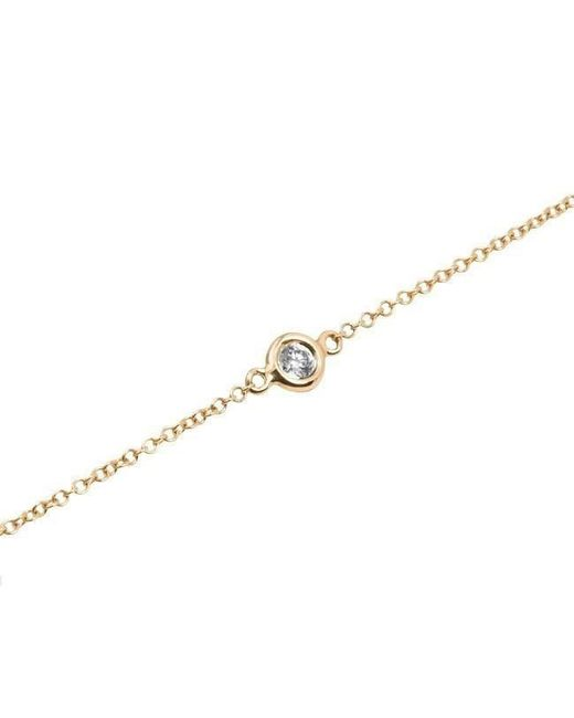 Anne Sisteron - Metallic 14kt Yellow Gold Diamond Solitaire Bracelet - Lyst