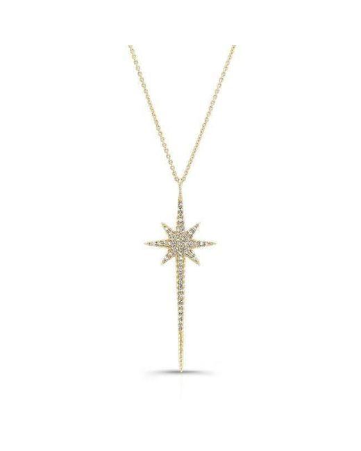 Anne Sisteron - Metallic 14kt Yellow Gold Diamond Star Wand Necklace - Lyst