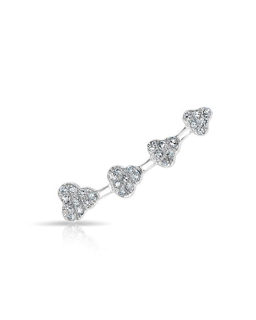 Anne Sisteron | Metallic 14kt White Gold Diamond Hearts Ear Climber | Lyst