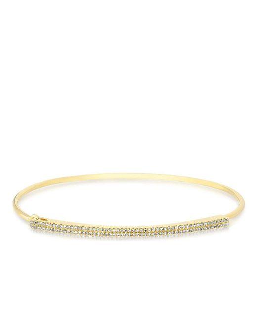 Anne Sisteron - Metallic 14kt Yellow Gold Diamond Double Bar Latch Bracelet - Lyst