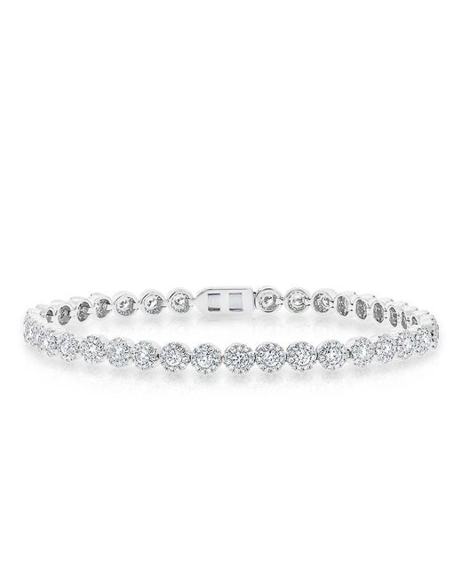 Anne Sisteron - Metallic 14kt White Gold Diamond Love Collection Luxe Tennis Bracelet - Lyst