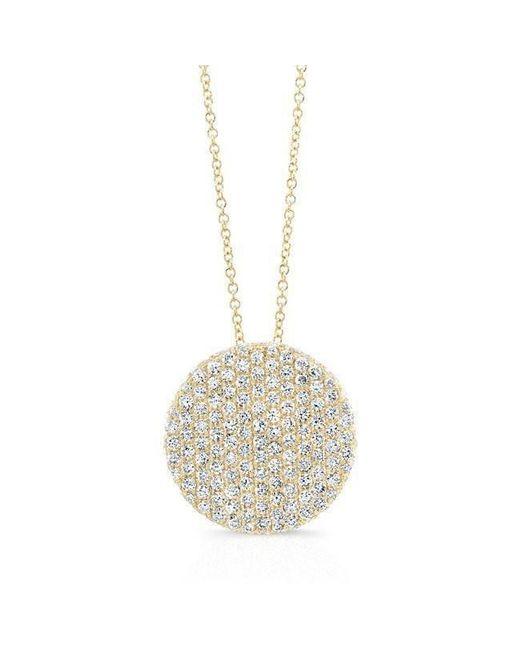Anne Sisteron - Metallic 14kt Yellow Gold Diamond Luxe Disc Necklace - Lyst