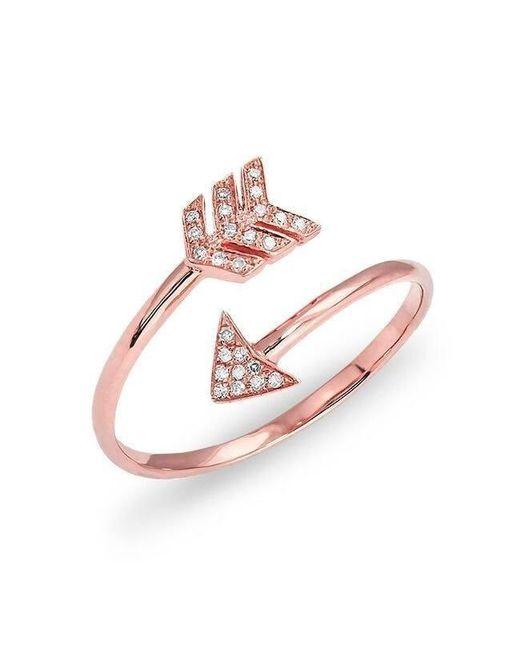 Anne Sisteron - Multicolor 14kt Rose Gold Diamond Mini Arrow Wrap Ring - Lyst