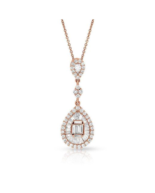 Anne Sisteron - Multicolor 14kt Rose Gold Diamond Amie Necklace - Lyst