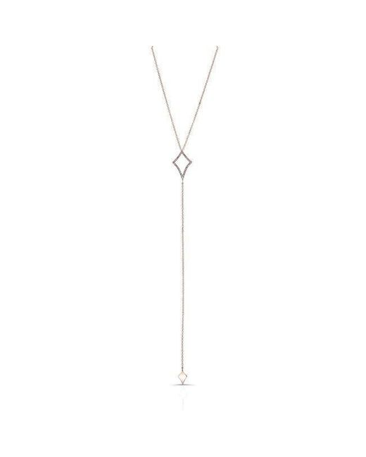 Anne Sisteron - Metallic 14kt Rose Gold Diamond Shape Lariat Necklace - Lyst