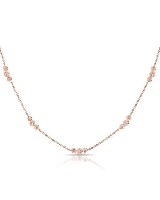 Anne Sisteron - Multicolor 14kt Rose Gold Diamond Bezel Amber Necklace - Lyst