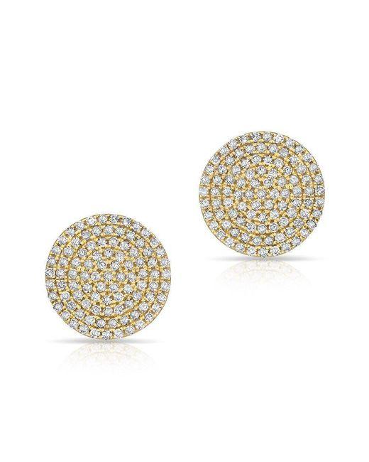 Anne Sisteron - Metallic 14kt Yellow Gold Diamond Luxe Disc Stud Earrings - Lyst