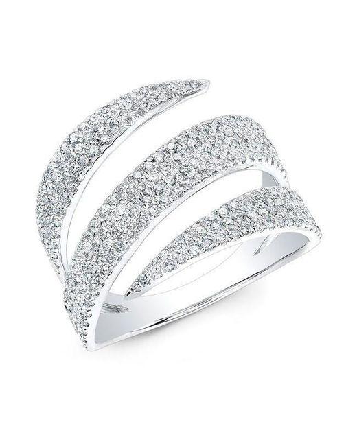 Anne Sisteron - Metallic 14kt White Gold Diamond Bandeau Ring - Lyst