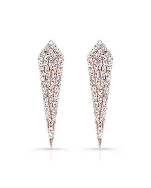 Anne Sisteron - Multicolor 14kt Rose Gold Diamond Mini Spear Earrings - Lyst