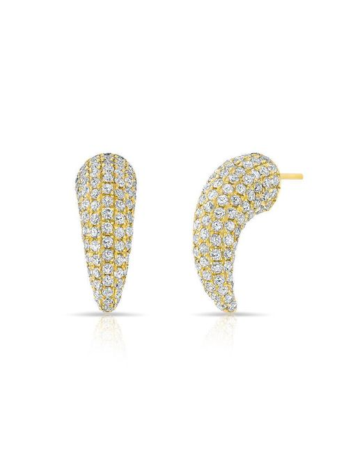 Anne Sisteron - Metallic 14kt Yellow Gold Diamond Talon Stud Earrings - Lyst