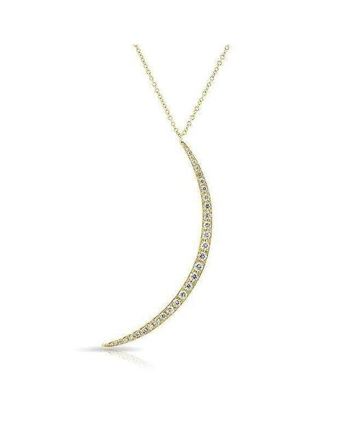 Anne Sisteron - Metallic 14kt Yellow Gold Diamond Lunula Necklace - Lyst