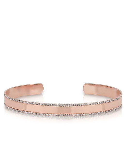 Anne Sisteron | Multicolor 14kt Rose Gold Diamond Trimmed Cuff | Lyst