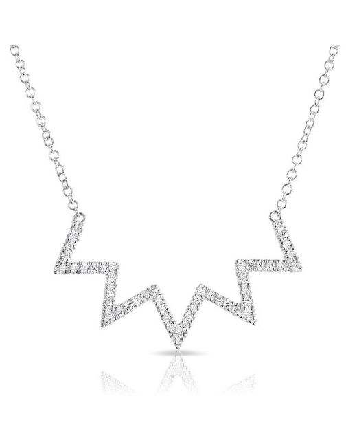 Anne Sisteron | Multicolor 14kt White Gold Diamond Chevron Crown Necklace | Lyst