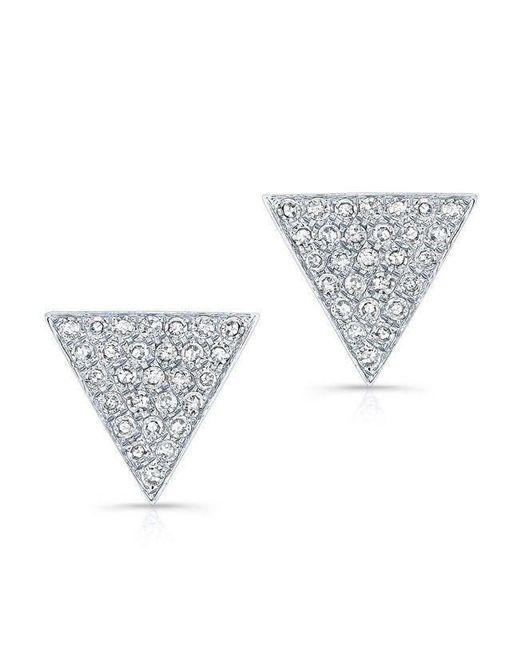 Anne Sisteron - Metallic 14kt White Gold Diamond Large Triangle Emma Stud Earrings - Lyst