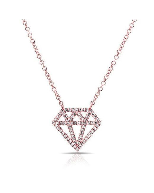 Anne Sisteron | Metallic 14kt Rose Gold Bling Diamond Necklace | Lyst