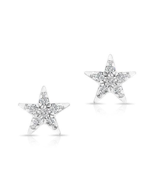 Anne Sisteron - Metallic 14kt White Gold Diamond Bellatrix Star Stud Earrings - Lyst