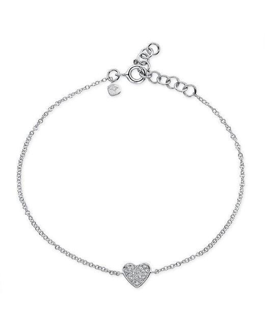 Anne Sisteron | Multicolor 14kt White Gold Diamond Heart Bracelet | Lyst