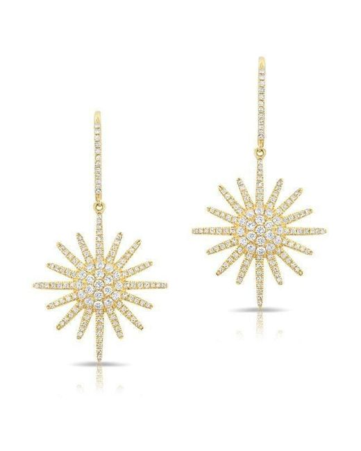 Anne Sisteron - Metallic 14kt Yellow Gold Diamond Aurora Sun Earrings - Lyst