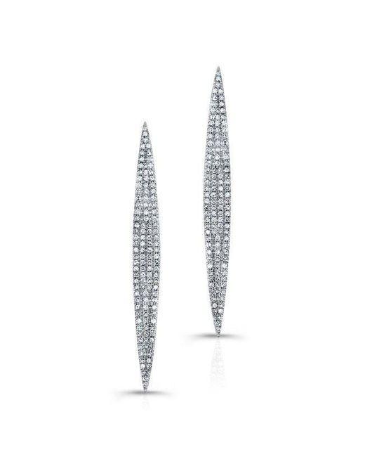 Anne Sisteron   14kt White Gold Diamond Petal Earrings   Lyst