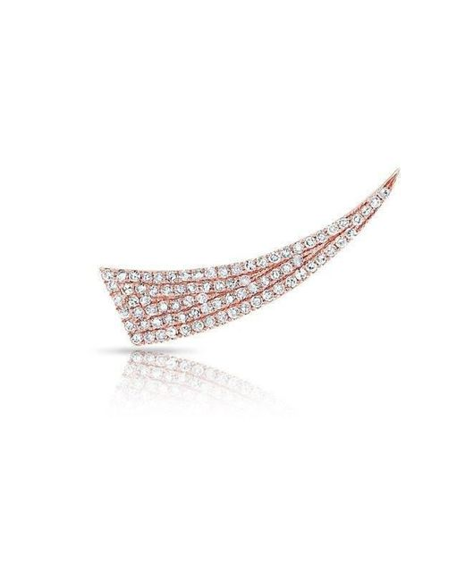 Anne Sisteron - Pink 14kt Rose Gold Diamond Horn Ear Climber - Lyst
