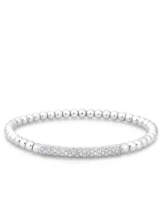 Anne Sisteron | Metallic 14kt White Gold Diamond Ball Stretch Bangle Bracelet | Lyst