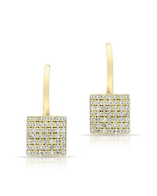 Anne Sisteron | Multicolor 14kt Rose Gold Diamond Square Wireback Earrings | Lyst