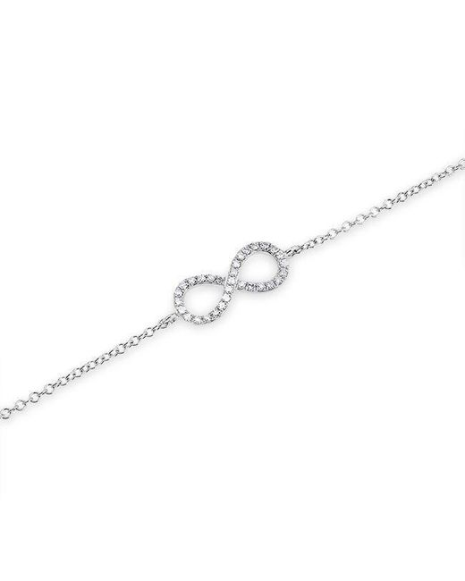 Anne Sisteron | Metallic 14kt White Gold Diamond Small Infinity Bracelet | Lyst