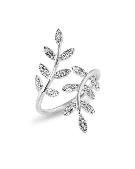 Anne Sisteron | Metallic 14kt White Gold Diamond Ivy Ring | Lyst